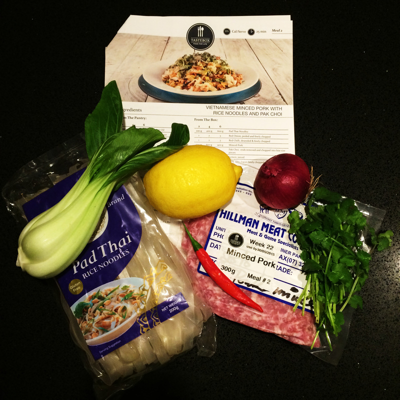 Tastebox Brisbane Dinner Meal Kit Review Portion Size